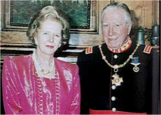 Margaret Thatcher and her friend, the murderous  Chilean dictator Augusto Pinochet.