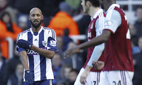 How to do the quenelle - you put your right hand up, your left hand out, you do it after scoring and it gets about.