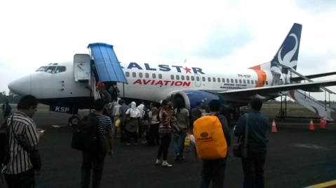 Relief as Kalamity Air finally arrives for departure