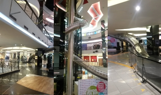 Slide rules - one of the features of Surdiman's FX Mall.
