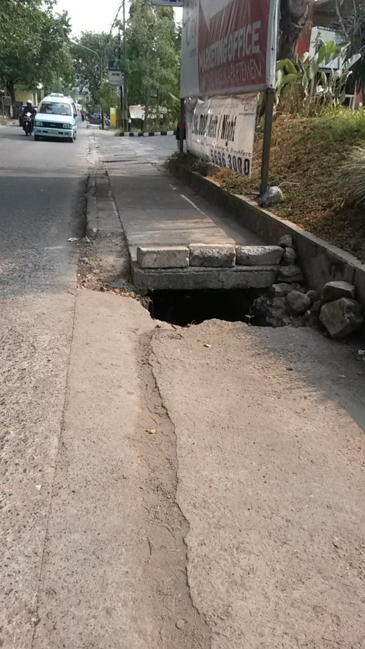 Huge open holes