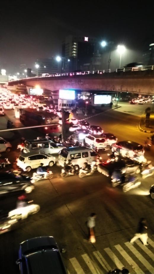 Saturday night rush hour