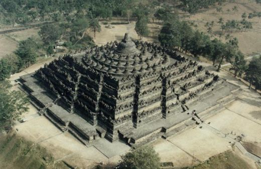 Borobudur ariel view archive