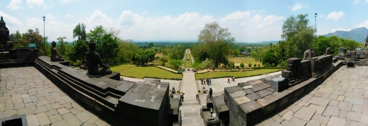 Borobudur view panoramic 1